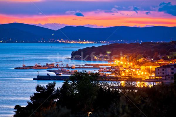 Ciudad vista archipiélago edificio puesta de sol Foto stock © xbrchx