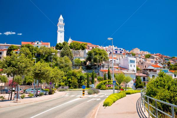 Ciudad calle vista agua ciudad mar Foto stock © xbrchx