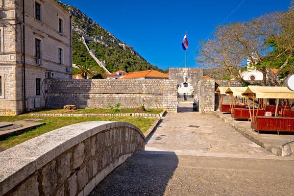 町 ゲート 壁 表示 地域 クロアチア ストックフォト © xbrchx