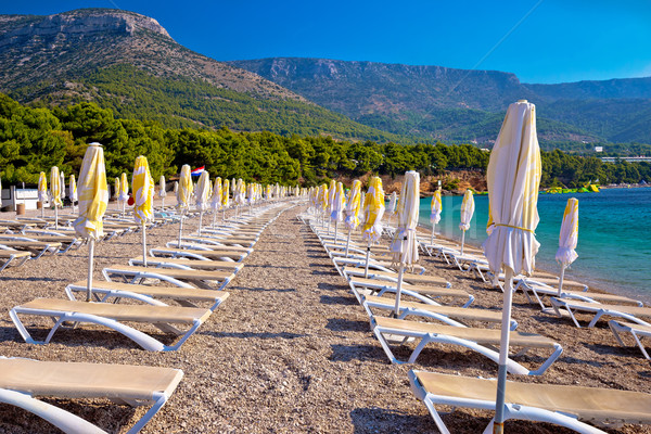 Zlatni rat beach and landscape view Stock photo © xbrchx