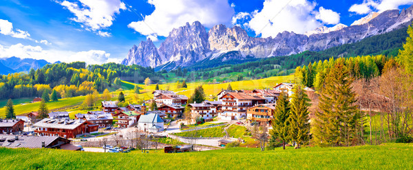 Alps landscape in Cortina D' Ampezzo panoramic view Stock photo © xbrchx