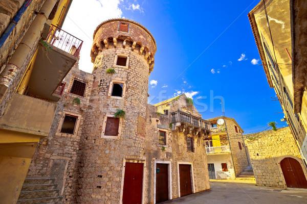 Rua arquitetura histórica ver região praia céu Foto stock © xbrchx