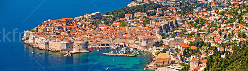 Historic town of Dubrovnik panoramic view Stock photo © xbrchx