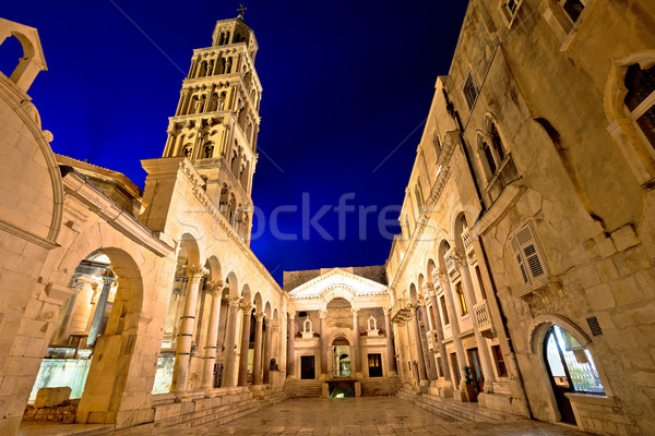 Split historic landmarks evening view Stock photo © xbrchx