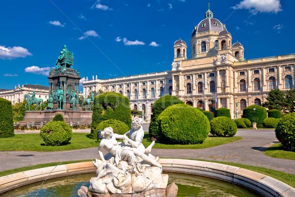 квадратный Вена архитектура природы мнение цветок Сток-фото © xbrchx
