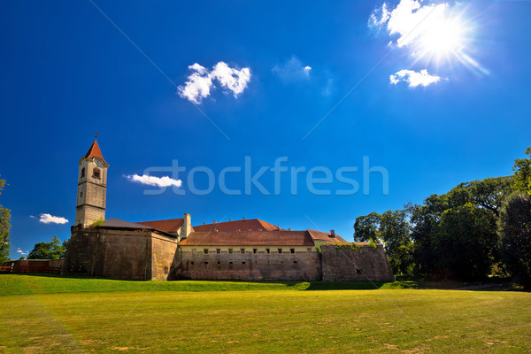 Cakovec old town in green nature view Stock photo © xbrchx