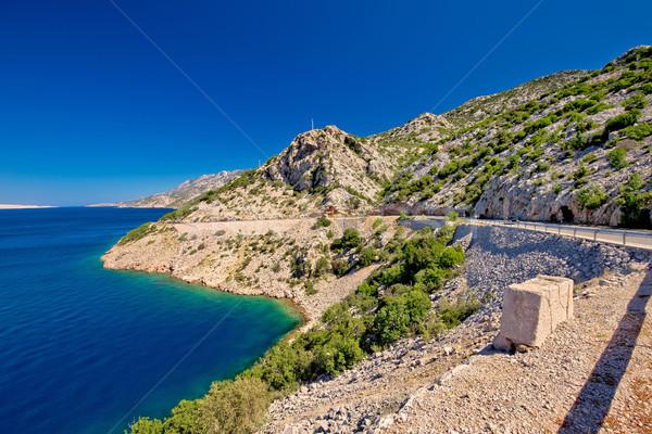 Schilderachtig kust weg berg regio Kroatië Stockfoto © xbrchx