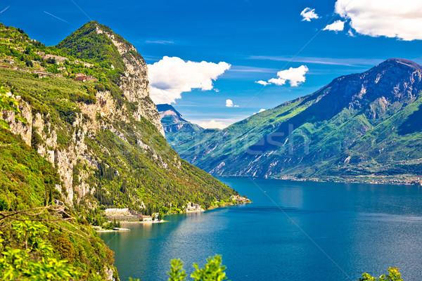 Lago di Garda and high mountain peaks view Stock photo © xbrchx