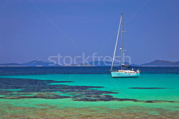 Pantera turquoise beach on Dugi Otok island archipelago sailing  Stock photo © xbrchx