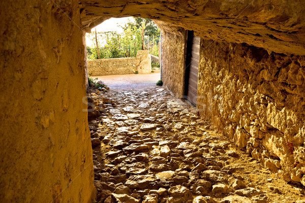Ciudad histórico piedra pasaje vista isla Foto stock © xbrchx