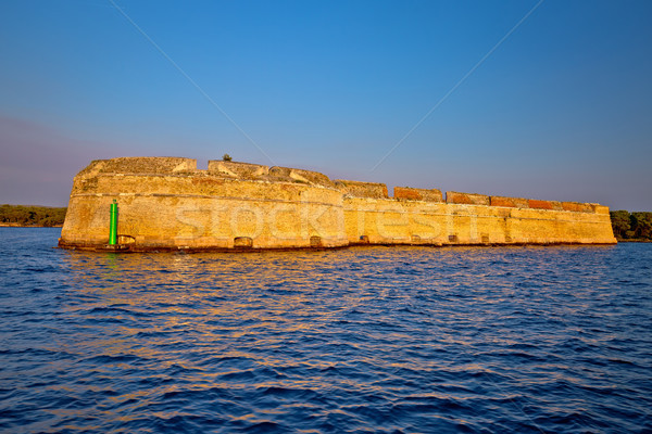 Saint Nikola fortres in Sibenik bay entrance Stock photo © xbrchx