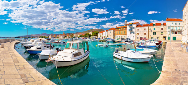 Kastel Novi turquoise harbor and historic architecture panoramic Stock photo © xbrchx