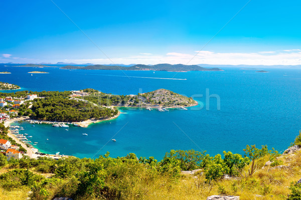Adriatic archipelago aerial summer view Stock photo © xbrchx