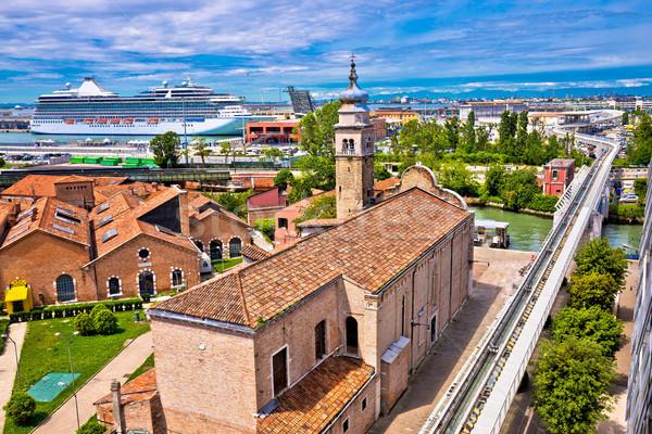 Iglesia puerto famoso turísticos destino Foto stock © xbrchx