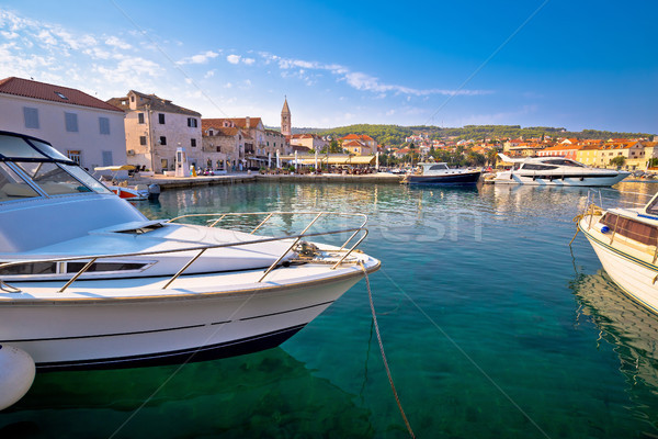 Supetar on Brac island turquoise waterfront view Stock photo © xbrchx