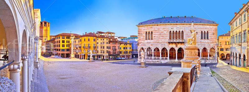 広場 表示 地域 イタリア 家 市 ストックフォト © xbrchx