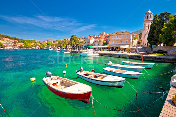 Turquoise waterfront of Cavtat view Stock photo © xbrchx