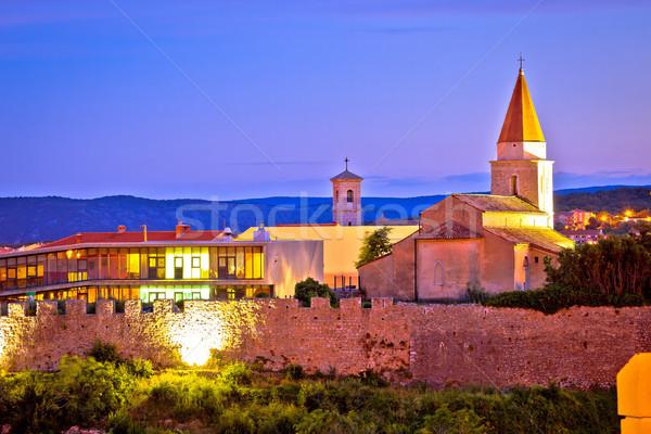 острове города защита стен мнение небе Сток-фото © xbrchx