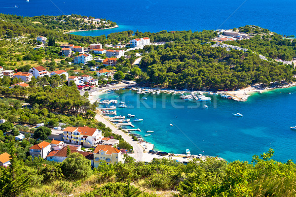 Aerial view of adriatic coast  Stock photo © xbrchx