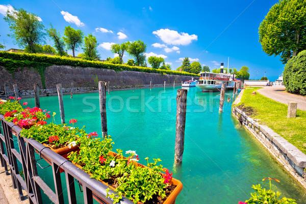 Türkiz vízpart kilátás turista uticél víz Stock fotó © xbrchx