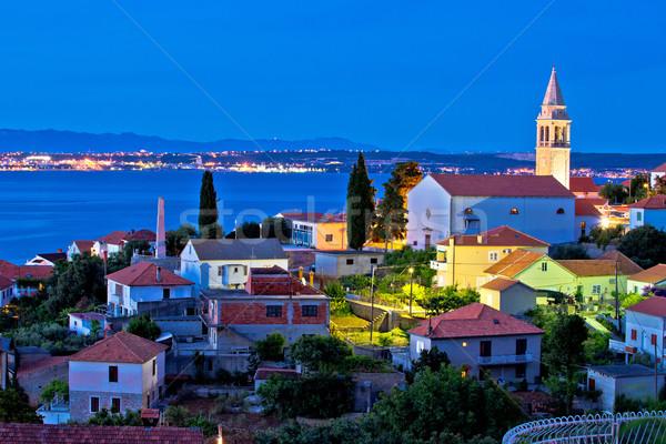 Town of Kali on Ugljan island evening view Stock photo © xbrchx