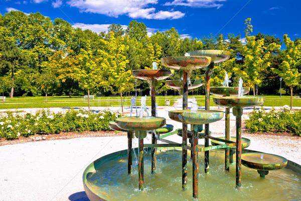 Tivoli park and fountain in Ljubljana Stock photo © xbrchx