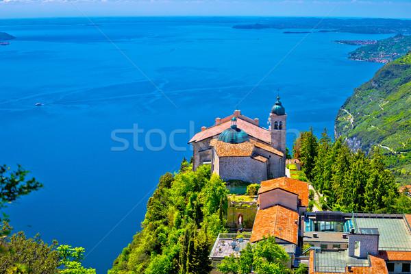 Madonna di Montecastello fermitage above Lago di Garda view Stock photo © xbrchx