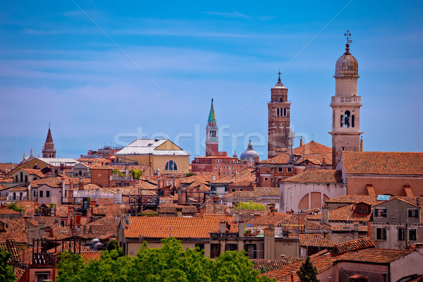 Skyline and rooftops of Venice view Stock photo © xbrchx