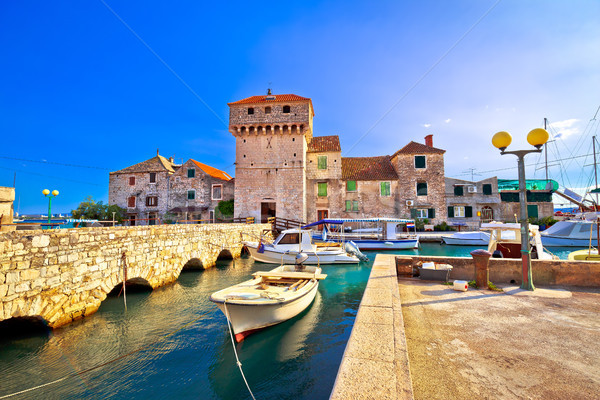 Kastel Gomilica old town on the sea near Split Stock photo © xbrchx