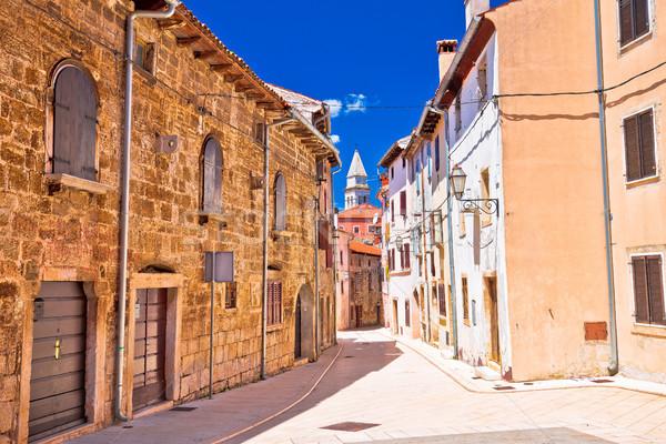 ストックフォト: 地中海 · 石 · 通り · 表示 · 町 · 地域