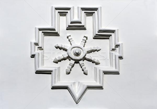 Wand Panel Stein gemalt weiß Stock foto © Ximinez