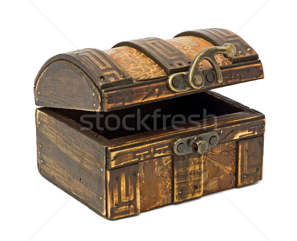 Antique wooden chest Stock photo © Ximinez