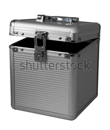 Metal peito isolado pequeno branco caixa Foto stock © Ximinez