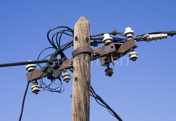 Pol Kabel alten elektrische Drähte Kabel Stock foto © Ximinez