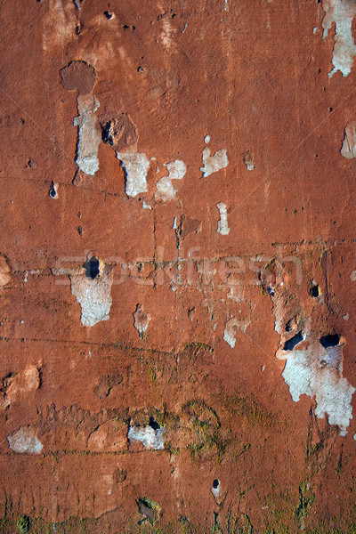Grungy wall with peeling red paint Stock photo © Ximinez