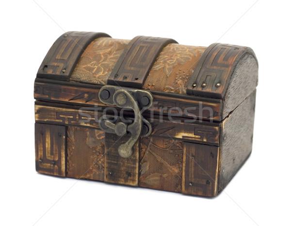Antique wooden chest Stock photo © Ximinez