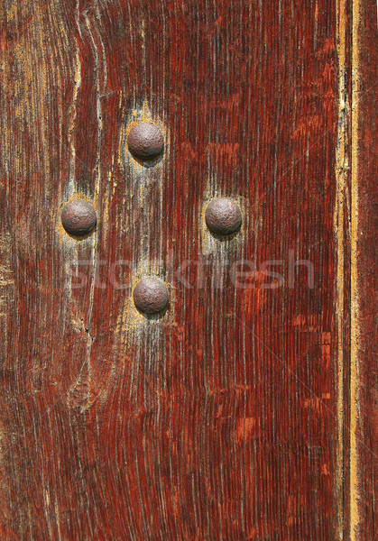 Rivets in an old door Stock photo © Ximinez