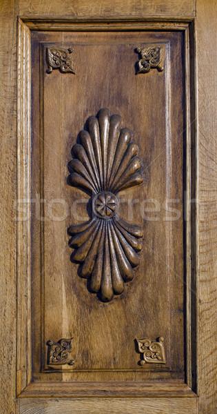 Holz Panel floral Ornamente Textur Stock foto © Ximinez