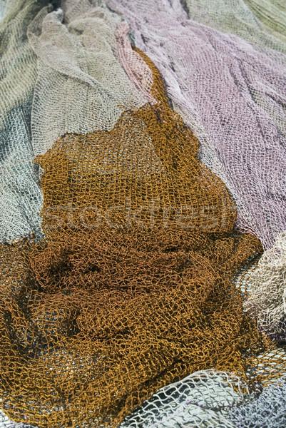 漁網 伝統的な 海 オレンジ 色 ツール ストックフォト © Ximinez