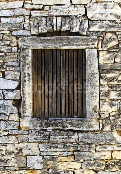 Window of an old stone house Stock photo © Ximinez