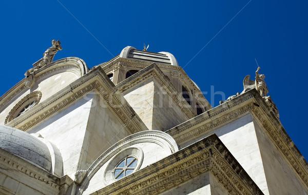 Kathedrale Kroatien Himmel Bau Kunst rock Stock foto © Ximinez