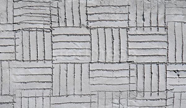 Wand rechteckige Muster Bau Hintergrund Gips Stock foto © Ximinez