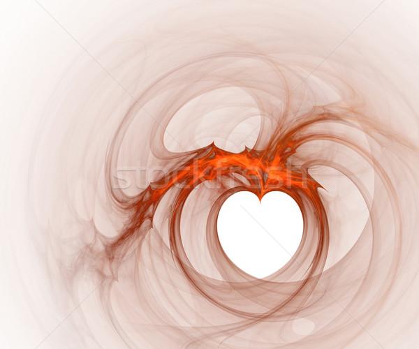 полый сердце компьютер генерируется фрактальный изображение Сток-фото © Ximinez