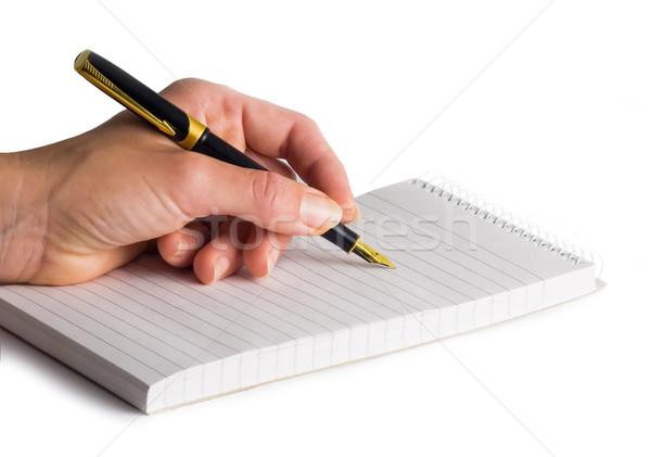 女性 手 エレガントな 女性 ペン ストックフォト © Ximinez