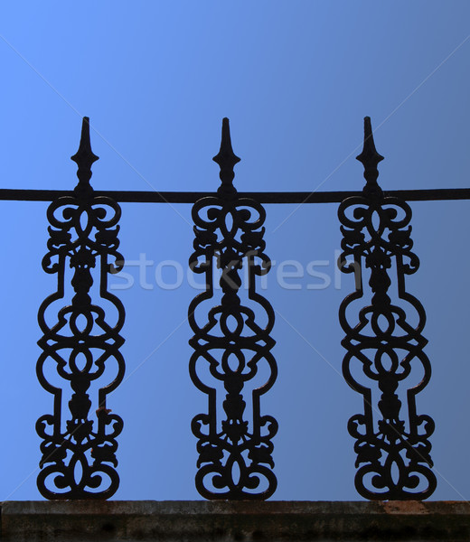Stock photo: Forged iron guard