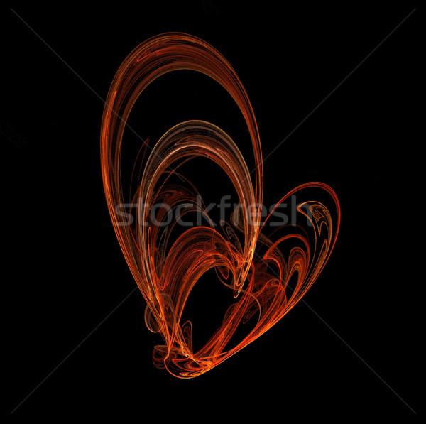 ストックフォト: 燃焼 · 中心 · コンピュータ · 生成された · フラクタル · 画像