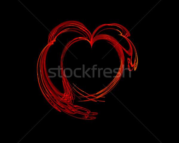 Foto d'archivio: Abstract · cuore · computer · generato · frattale · immagine
