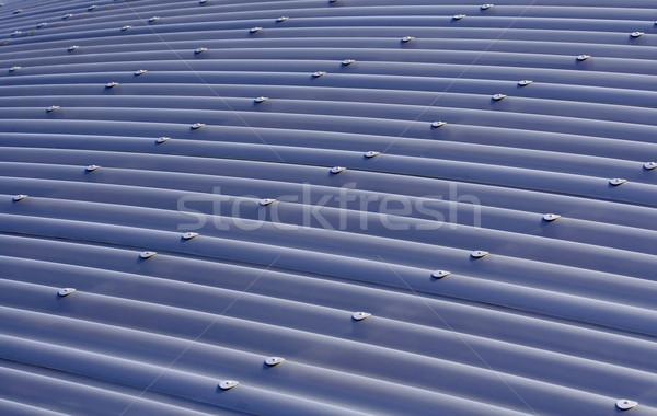 Blue corrugated metal roof Stock photo © Ximinez