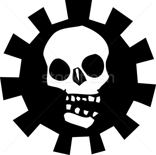 Gear Skull B Stock photo © xochicalco