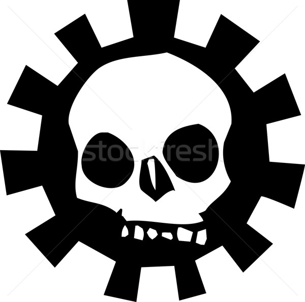 Gear Skull A Stock photo © xochicalco